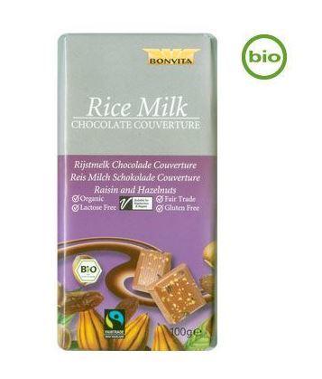 rismjölkchoklad med hasselnötter och russin