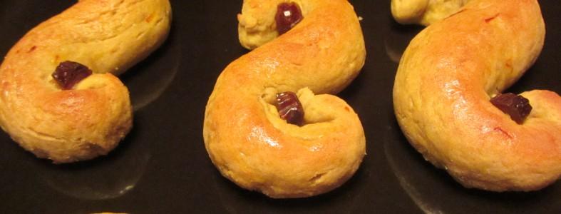 Recept: Glutenfria Lussekatter utan mjölk och ägg