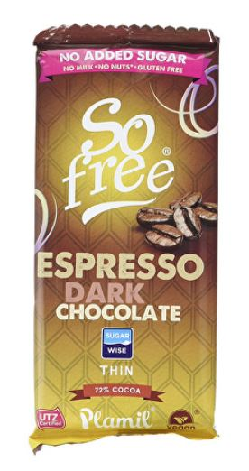 Plamil Espresso sockerfri choklad