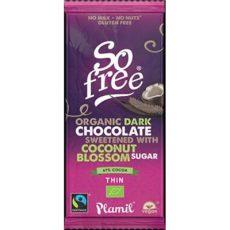 Plamil mörk mjölkfri choklad vegan kokossocker