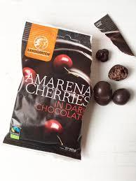 vegan körsbär i choklad