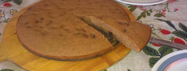 recept: glutenfri rabarberkaka