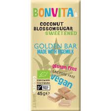 Vit Mjölkfri Choklad Golden Bar