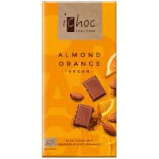 iChoc almond orange laktosfri vegansk choklad