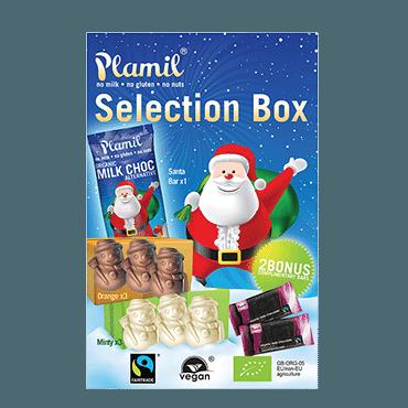 Plamils stora jullåda vegansk mjölkfri julchoklad