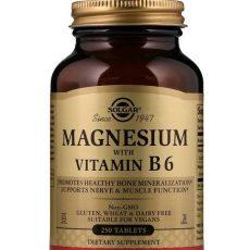 magnesium oxid med B6 solgar 250 st