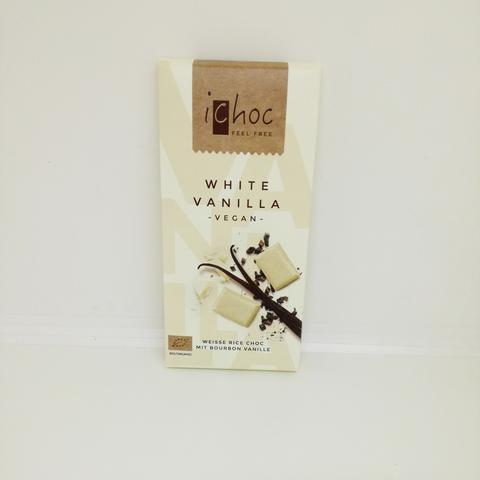 iChoc white vanilla vit laktosfri choklad