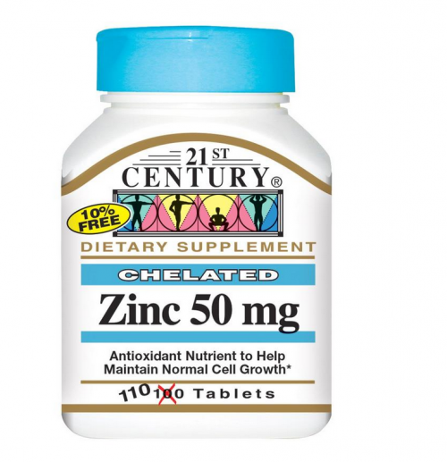 Zink chelat kelaterad 50mg 21st century